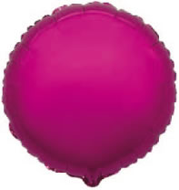Ballon mylar rond rose